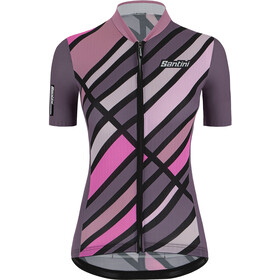 Santini Eco Sleek Raggio Shortsleeve Jersey Women, vineyard